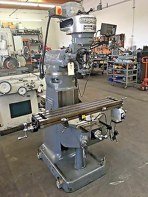 "Bridgeport 9"" X 42"" Milling Machine With Dro And Power Feed / Step Pully"