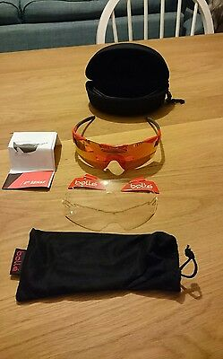 Bolle 6th sense Fire Excellent condition comes with clear lenses.