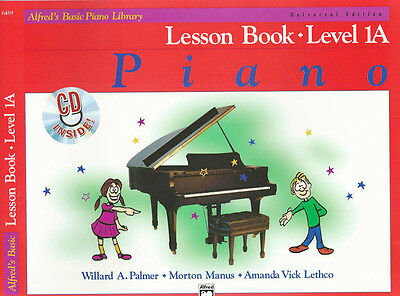 Alfred's Basic Piano Library - Lesson Book - Level 1A & Cd