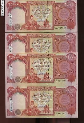 100,000 Iraqi Dinar 4 x 25,000 25000 Uncirculated Authentic Currency 100000 IQD