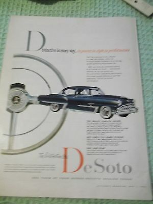 Color Macleans magazine AD May 1953 The Distinctive New DeSoto  tip-top shift