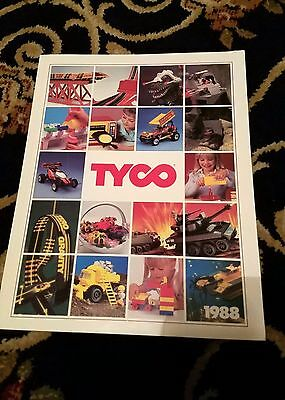 1988 Tyco Toy Sales Catalog Slot Cars RC Trains Dino-Riders 103 pages