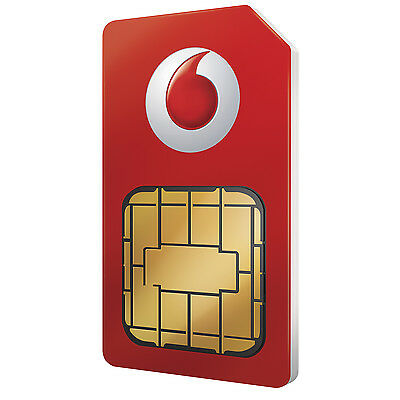 Vodafone Multi Sim Card For Apple iPhone 4 & iPhone 4S 5 5S 6 7 8 Pay As You Go