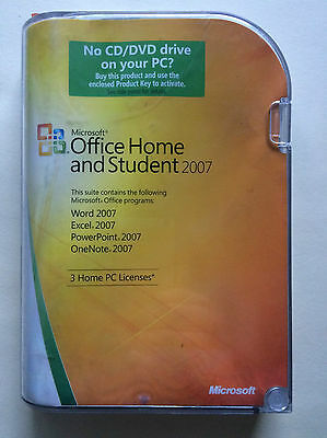 Microsoft Office 2007 Home and Student 3PC Retai with DVDl