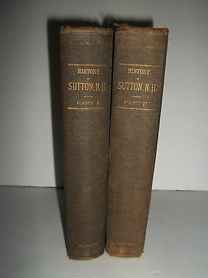 History Of Sutton New Hampshire 1890 1st Edition Original 2 Volumes