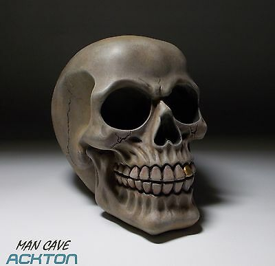 1/2 Scale Collectable Hand Finished Steam Punk Skull Accessory Props Table Decor