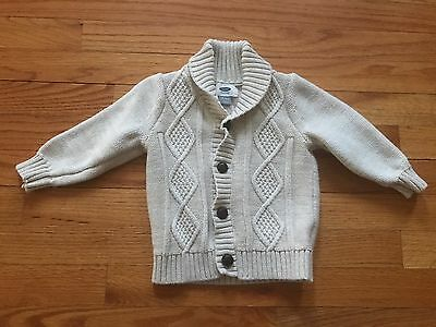 Old Navy Baby Toddler Boy Ivory Shawl Collar Cardigan Sweater 18-24 Months EUC