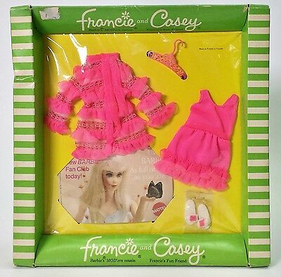 Vintage 1969 Fashions For Francie & Casey #1238 Snappy Snoozers Nrfp