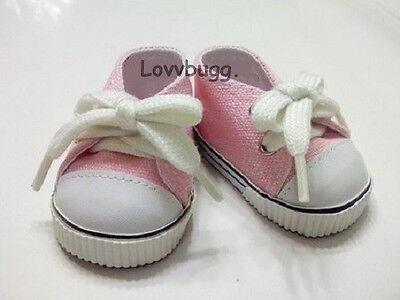 Lovvbugg Pink Sneakers for 18 inch Doll Shoes American Girl KidznCats Bitty Baby