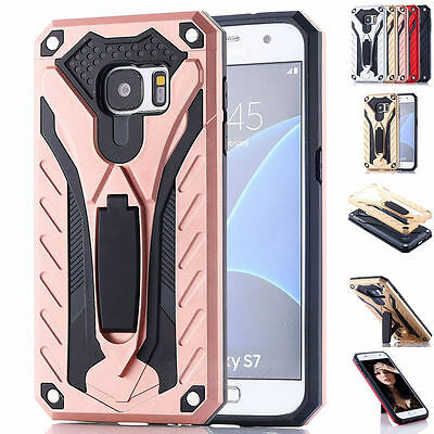 Shockproof Armor Hard Rugged Hybrid Stand Case Cover For Samsung Galaxy S7 &Edge