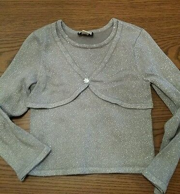 Girls Size 5-6 The Children's Place Long Sleeve Stretch Cardigan Sweater W / Met