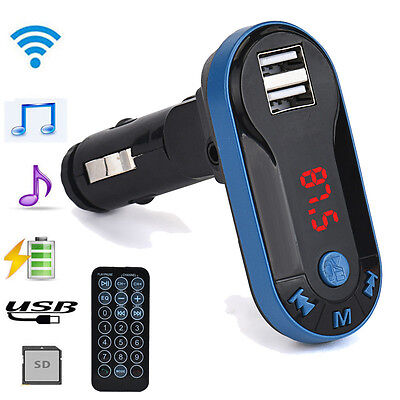 Wireless Bluetooth FM Transmitter MP3 Player Handsfree Car Kit USB TF SD Remote