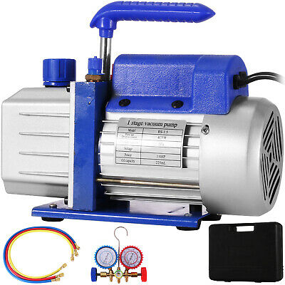 4CFM Vacuum Pump HVAC Refrigeration R134A R502 R22 R12 Air-Condition Adapter A/C