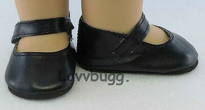 "Black Mary Janes for 15"" to 18"" Doll Shoes American Girl and Baby by Lovvbugg!"
