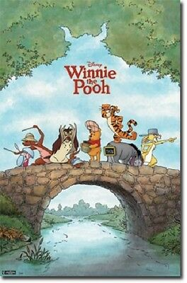 Disney Winnie The Pooh Movie One Sheet Poster 22X34 New Free Shipping