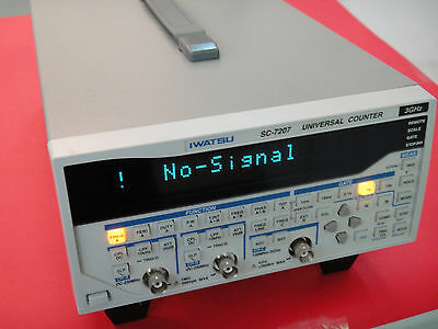 IWATSU SC-7207 10MHz-3GHz Universal Frequency Counter, multi-function