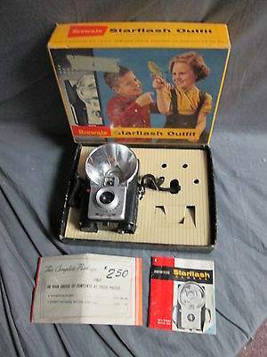 Vintage Kodak Brownie Starflash Outfit Camera in Original Box w/ Literature 24M