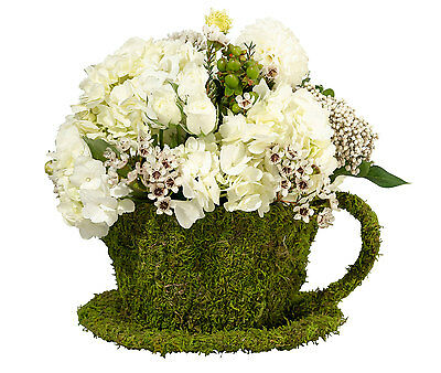 Moss Flower Pot Teacup Floral Table Centerpiece Cup Wedding Flowers Display 21St
