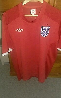 Umbro England Classic Red Football jersey size 46 XL