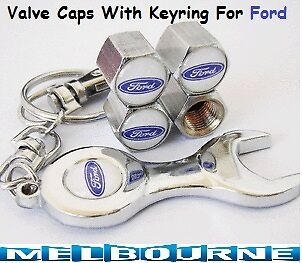 For FORD Logo Emblem Wheel Tyre Valve Air Dust Cover Tire Screw Caps Gift Ring#W