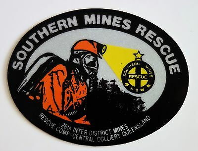 Central Colliery Southern Mines Rescue Mining Sticker