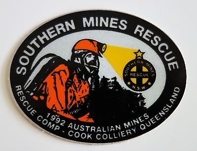 Cook Colliery Southern Mines Rescue Mining Sticker