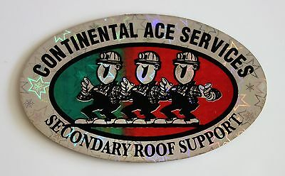 Continental Ace Services Secondary Roof Support Mining Sticker