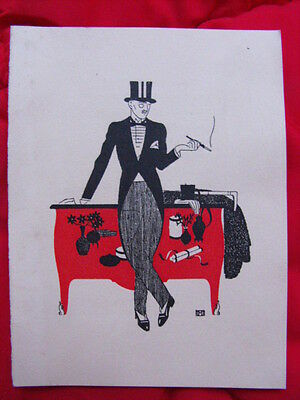 Barclay Fashion. Carte publicitaire par Boutet de Monvel Gazette de Barclay 1925