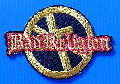 BAD RELIGION Thash Metal Rock  Embrodered Iron Or Sewn On Patch Free Ship