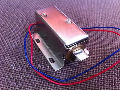 New Cabinet Door Electric Lock Assembly Solenoid DC 12V