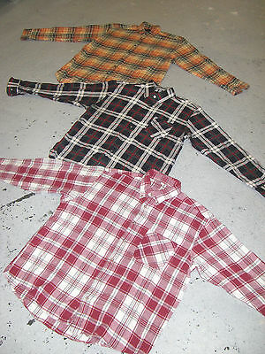 Vintage Wholesale Joblot Men's Plaid Flannel Checked Shirt Lumberjack x 25
