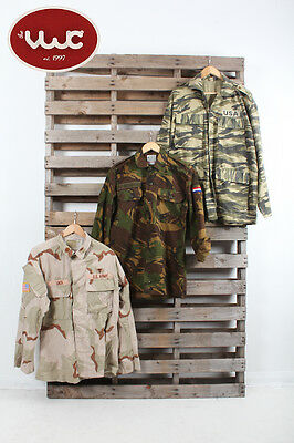 25 x Vintage Clothing Wholesale Joblot Mens Army Uniform Camo Shirt Mix