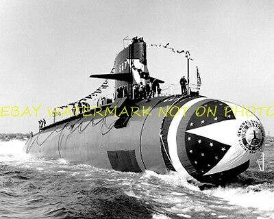 USS Bergall SSN-667 8x10 Photo Military USN 8X10 Submarine sub vet SSN 667