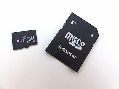 4GB High Speed Micro SDHC Flash Memory Card with SD Card Adaptor