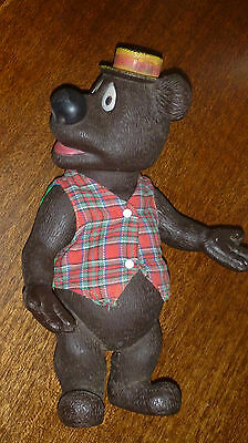 Collectable Vintage  Plastic Squeezable Humphrey B Bear
