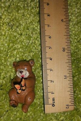 Small Vintage 1996 Topps bear toy doll figurine figure 1990s