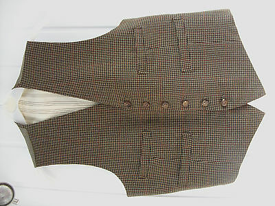 Mens/youths  quality vintage country gent Waistcoat Vest Size 34 XS