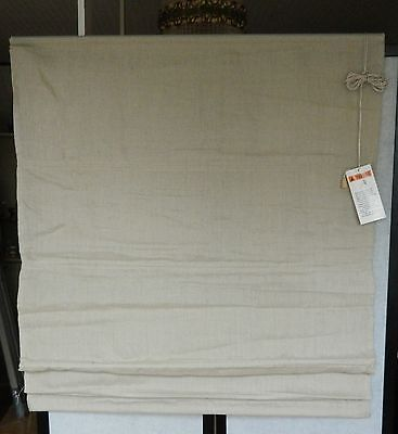 2 Stores bateau tamisant Madeco 220 long 80 large 100% lin beige