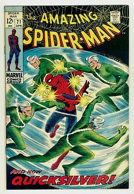Amazing Spider-man #71 VF+ 8.5 White pages 1969 Marvel silver age
