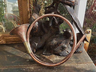 Antique Copper Hunting Horn Tally Ho Victorian From Devon Countryside MFH
