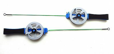 ICE FISHING ROD Open Reel Jig Vertical and Winter Float Fishing, Pair or One