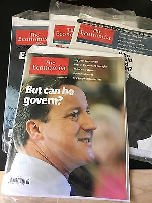 4 Copies Of The Economist Pristine In Wrappings 2010 Includes Cameron Issue!