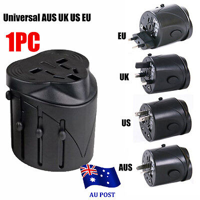 Europe AUS UK US International Universal Travel Adapter Plug AC / USB Power BO