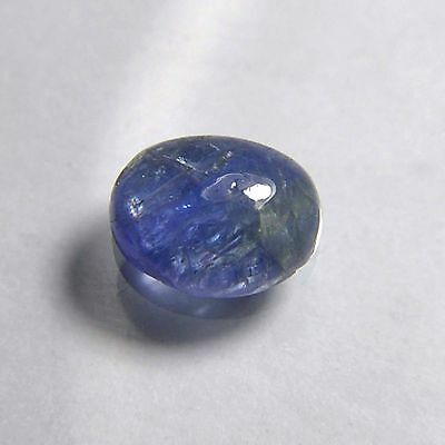 4.05 Cts natural untreated specific blue tanzanite oval cabochon gemstone 16-Q