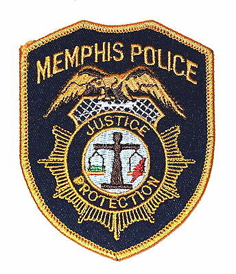 "MEMPHIS TENNESSEE TN Police Sheriff Patch GOLDEN EAGLE SCALE OF JUSTICE 3.75"" ~"