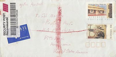 D 1093 Security Post air 1993 cover USA; $10  Roberts painting solo stamp on PSE