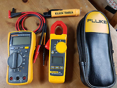 Fluke 117, Fluke 324 & Klein Voltage tester with pouch