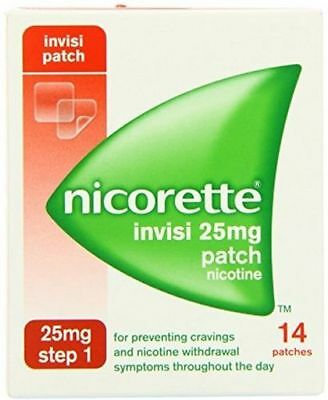 1- Boxes NICORETTE INVISI 25mg Patches Step 1 - 14 Patches In Total exp-08/2018