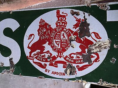 Old Lipton Tea Vintage Enamel Porcelain Sign Very Rare And Genuine English Made1