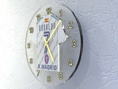 CRISTIANO RONALDO REAL MADRID C.F. Football shirt Legends Clock LIMITED EDITION
